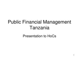Public Financial Management Tanzania