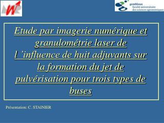 Présentation: C. STAINIER
