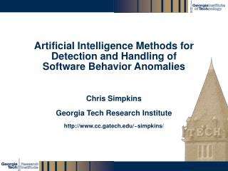 ArtificiaI Intelligence Methods for Detection and Handling of Software Behavior Anomalies