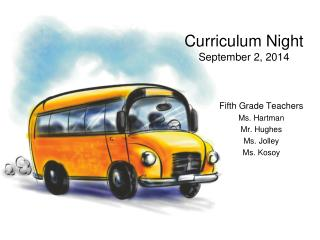 Curriculum Night September 2, 2014
