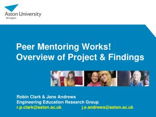 Peer Mentoring Works! Overview of Project & Findings