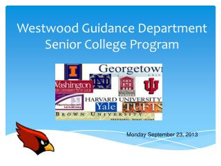 Westwood Guidance Department Senior College Program
