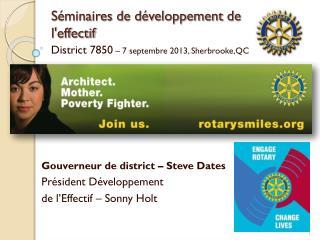 Séminaires de développement de l'effectif
