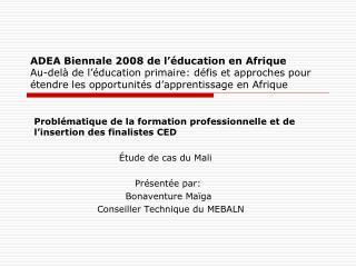ADEA Biennale 2008 de l  ducation en Afrique Au-del  de l  ducation primaire: d fis et approches pour  tendre les opport