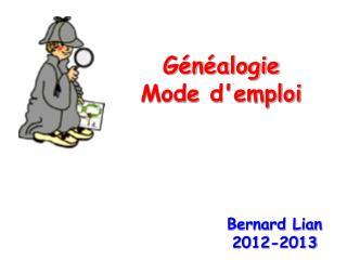 Généalogie Mode d'emploi