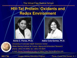 HIV-Tat Protein: Oxidants and Redox Environment