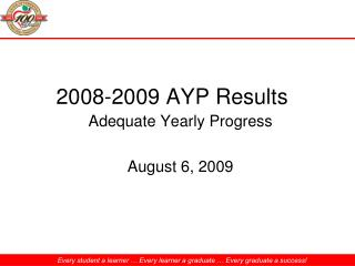 2008-2009 AYP Results