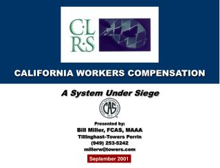CALIFORNIA WORKERS COMPENSATION