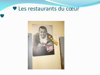 ♥ Les restaurants du cœur ♥
