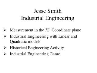 Jesse Smith Industrial Engineering