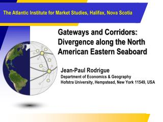 Gateways and Corridors: Divergence along the North American Eastern Seaboard