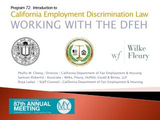Phyllis W. Cheng | Director | California Department  of Fair Employment  & Housing