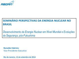 SEMINÁRIO PERSPECTIVAS DA ENERGIA NUCLEAR NO BRASIL