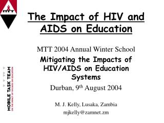 The Impact of HIV and AIDS on Education