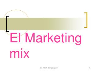 El Marketing mix