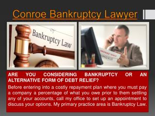Conroe Bankruptcy Law Firm