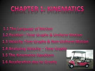 Chapter 1: Kinematics