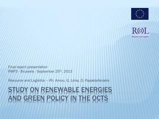 Study  on Renewable Energies  and Green  Policy in the OCTs
