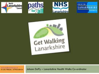 Johann Duffy – Lanarkshire Health Walks Co-ordinator