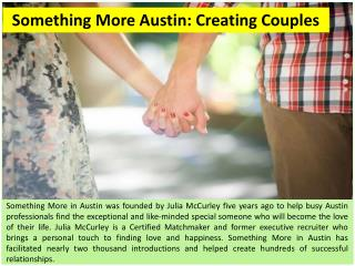Something More Austin: Creating Couples