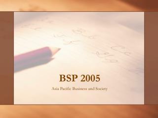 BSP 2005
