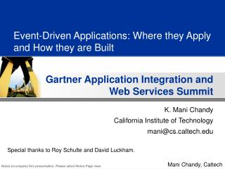 Event-Driven Applications: Where they Apply and How they are Built