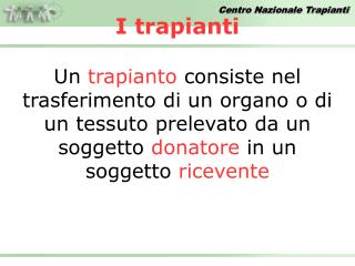 I trapianti