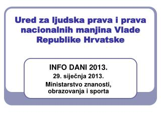 Ured za ljudska prava i prava nacionalnih manjina Vlade Republike Hrvatske