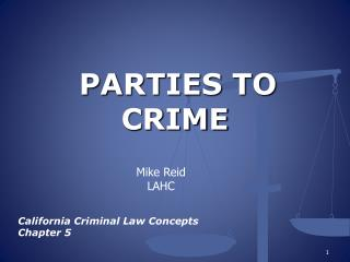 PARTIES TO CRIME