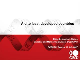 Aid to least developed countries