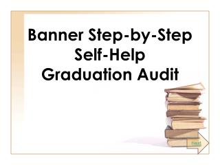 Banner Step-by-Step Self-Help Graduation Audit