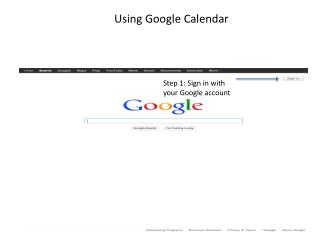 Step 1: Sign in with your Google account