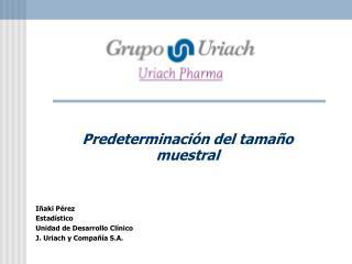 Predeterminaci n del tama o muestral