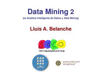 Data Mining  2 (ex Análisis Inteligente de Datos y  Data Mining ) Lluís A. Belanche