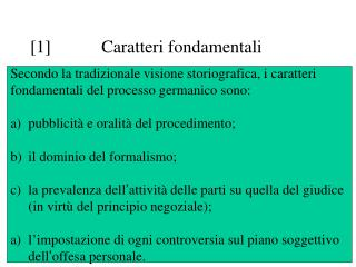 [1] Caratteri fondamentali