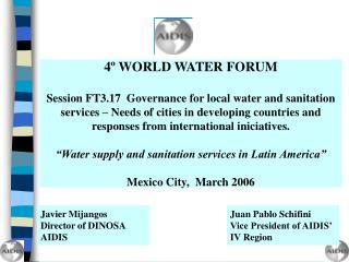 4º WORLD WATER FORUM