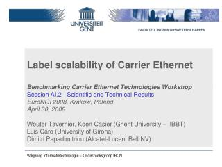 Label scalability of Carrier Ethernet