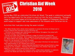 Christian Aid Week 2010