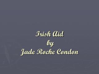 Irish Aid  by  Jade Roche Condon