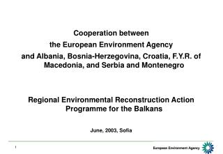 Cooperation between  the European Environment Agency