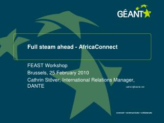 Full steam ahead - AfricaConnect