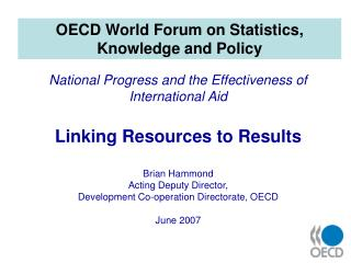 OECD World Forum on Statistics, Knowledge and Policy