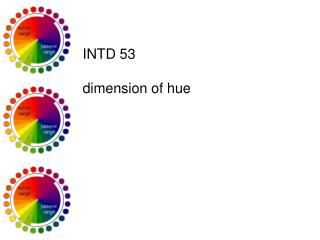 INTD 53 dimension of hue