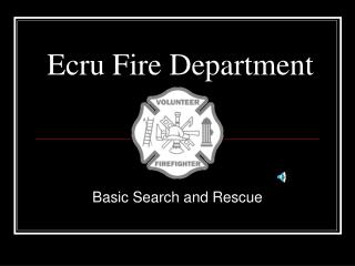 Ecru Fire Department