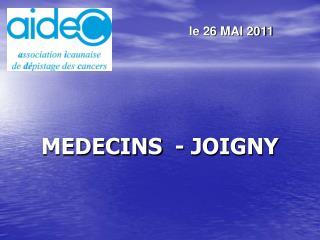 MEDECINS  - JOIGNY