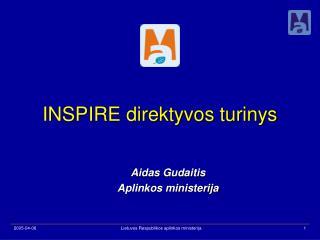 INSPIRE direktyvos turinys