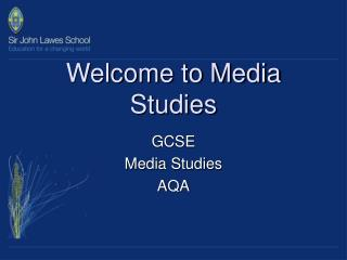 Welcome to Media Studies