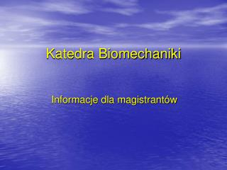 Katedra Biomechaniki