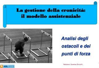 Analisi  degli ostacoli e dei punti di  forza