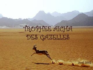 TROPHEE AICHA DES GAZELLES